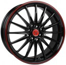 Rim Jet RS - Gloss Black With Red Border