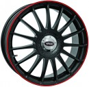 Rim Set Monza GT - Racing Black With Red Edge